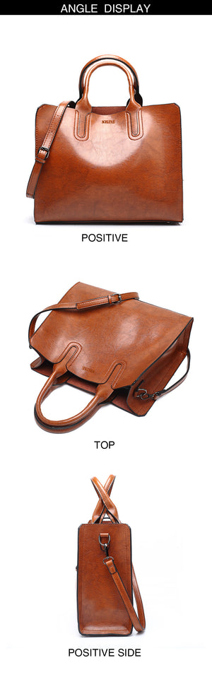 Styleibuy-2019 Women Shoulder Bag Leather High Quality  Large Casual s Tote -BAG070 - Styleibuy Online Shop