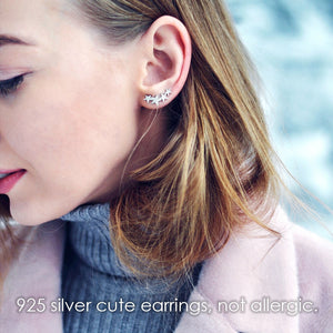 Styleibuy High Quality 925 Sterling Silver Hook Earrings for Women Four Stars Modeling Charming Stud Earrings Brand Fine Jewelry-WE027 - Styleibuy Online Shop