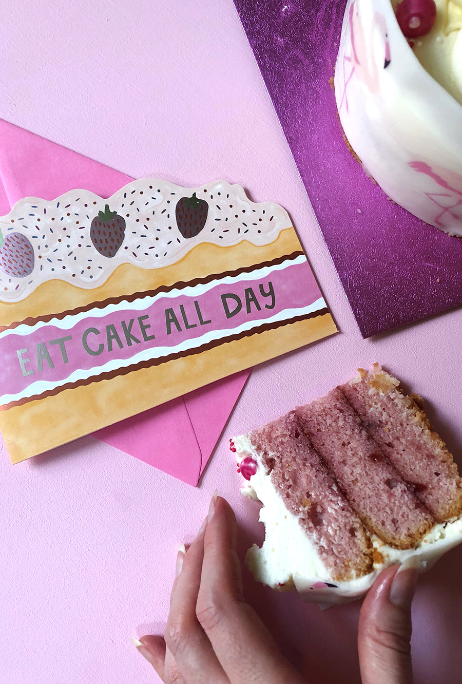 Eat Cake all Day Birthday Cake Card