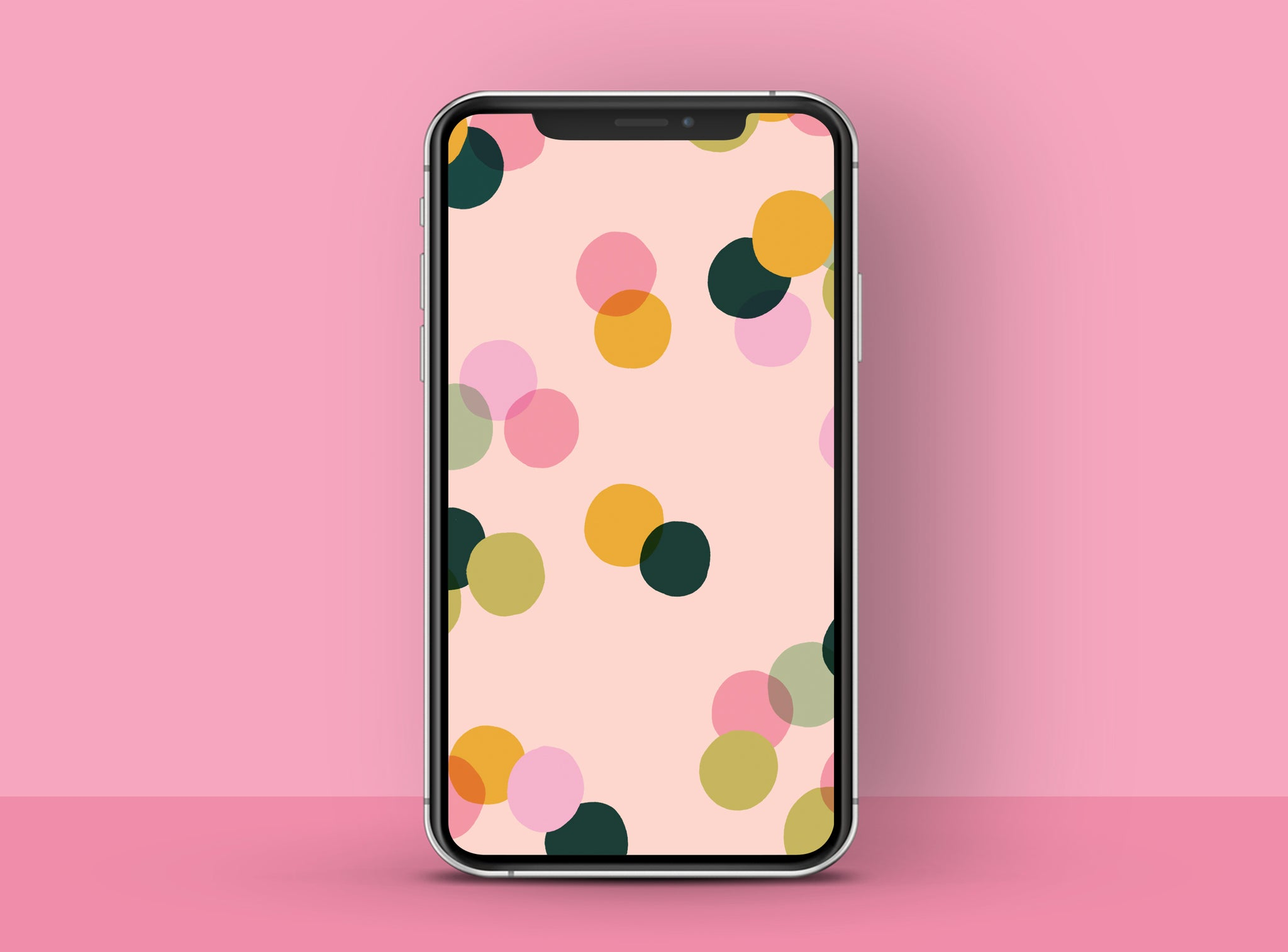 Colourful dotty HD free phone wallpaper | Raspberry Blossom