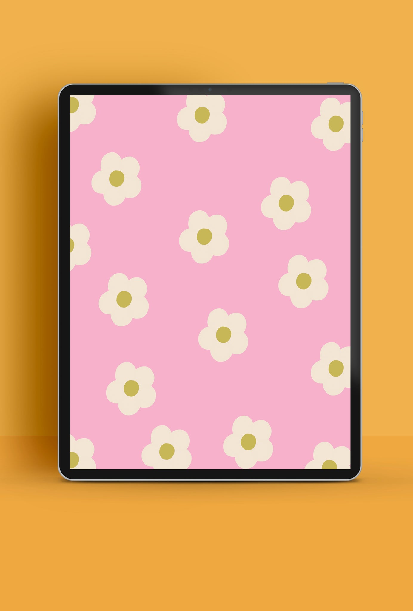 Free daisy HD pattern tablet wallpaper | Raspberry Blossom