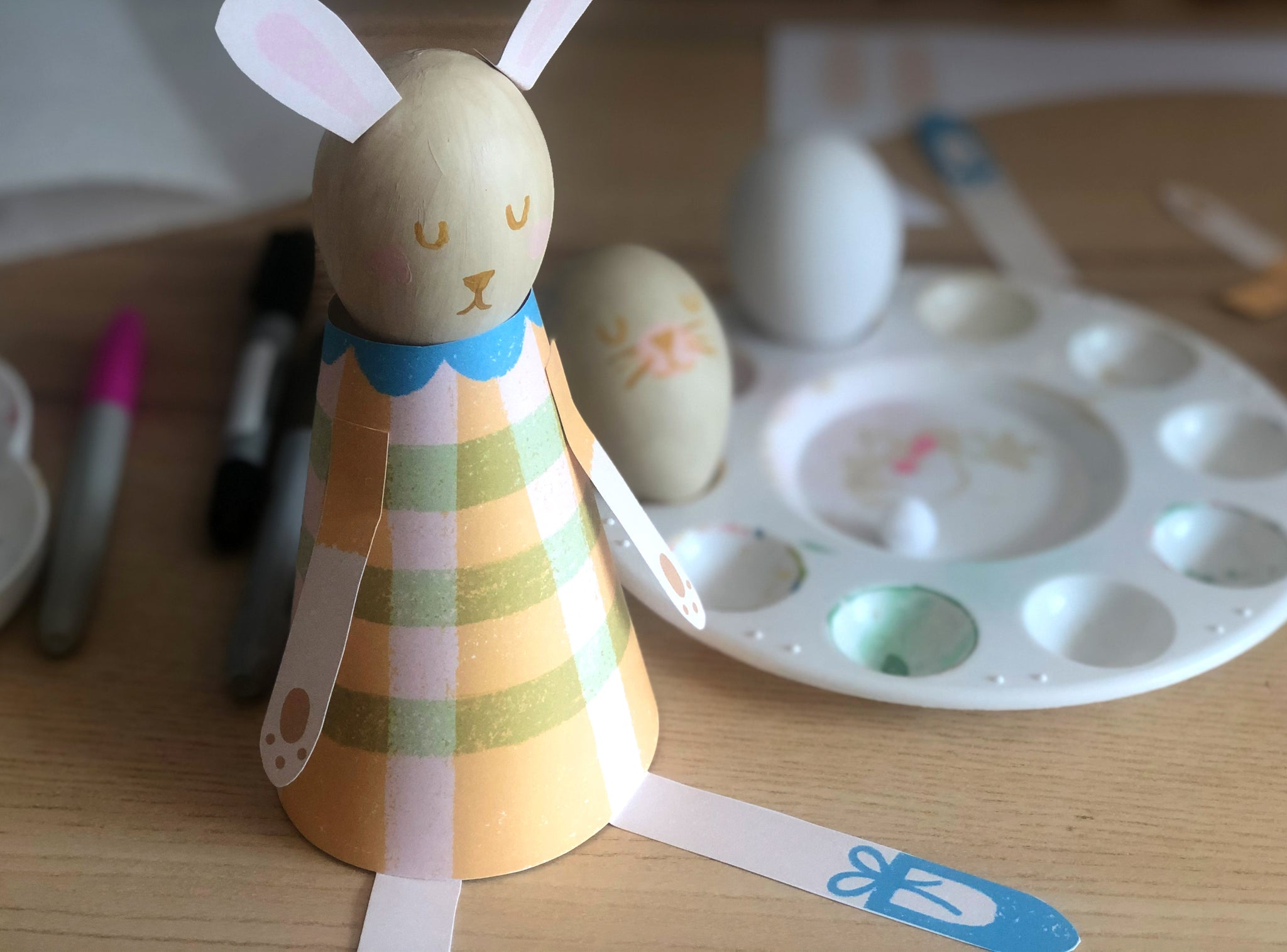 Finished Paper Bunny craft for kid
