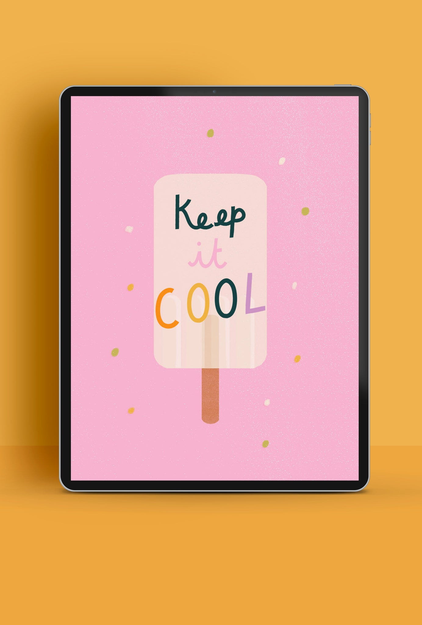 'Keep it cool' fun ice lolly tablet wallpaper | Raspberry Blossom