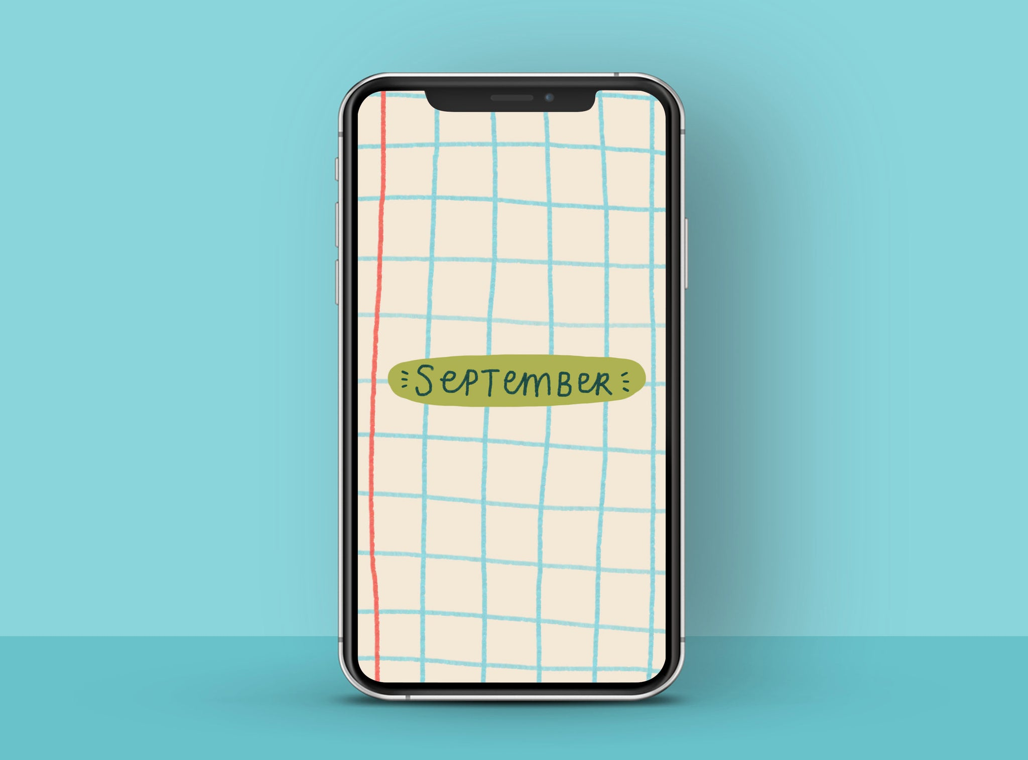 Back to school inspired grid paper Free HD phone wallpaper   Raspberry Blossom