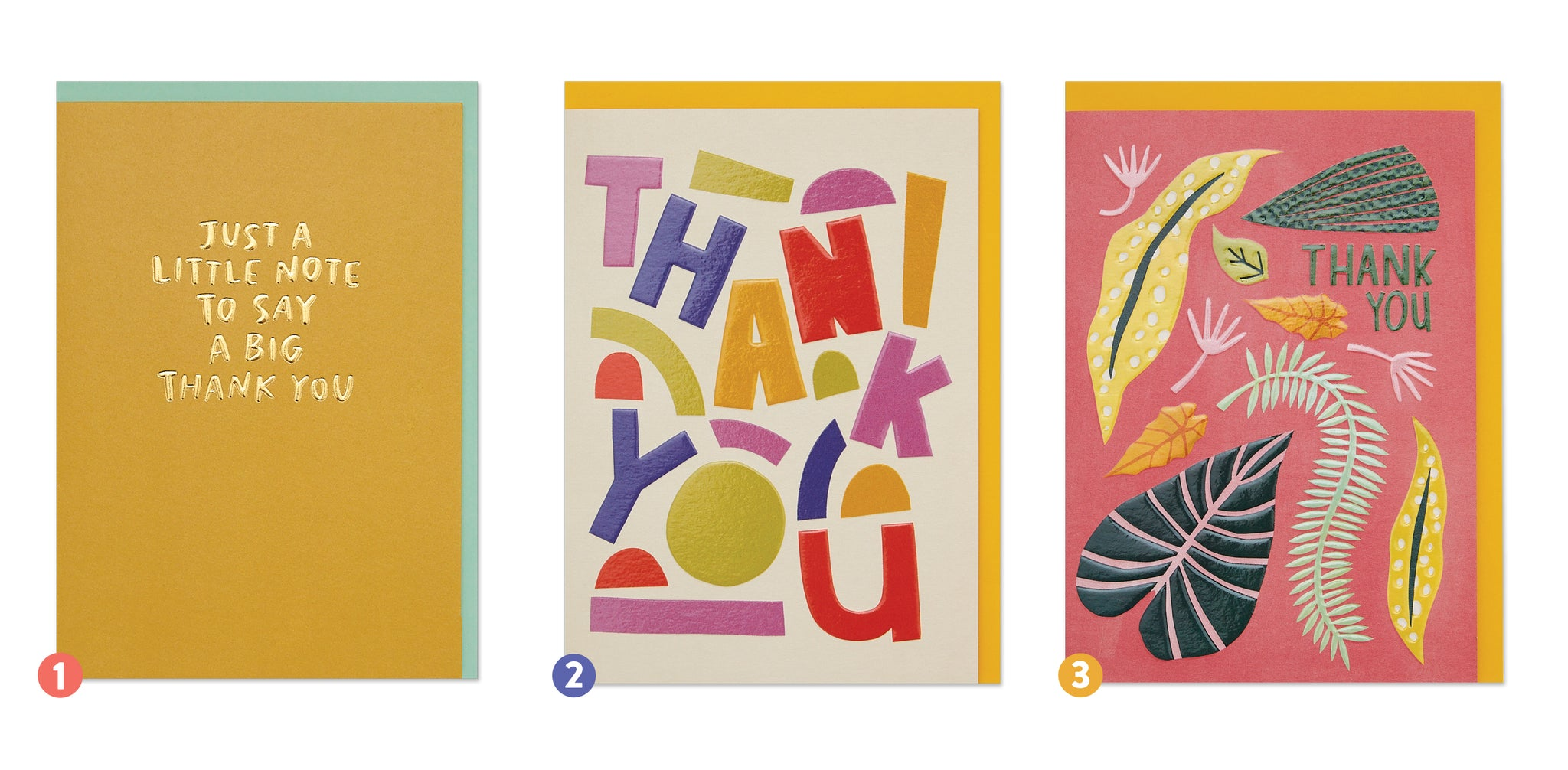 Colourful Thank You card designs | Raspberry Blossom