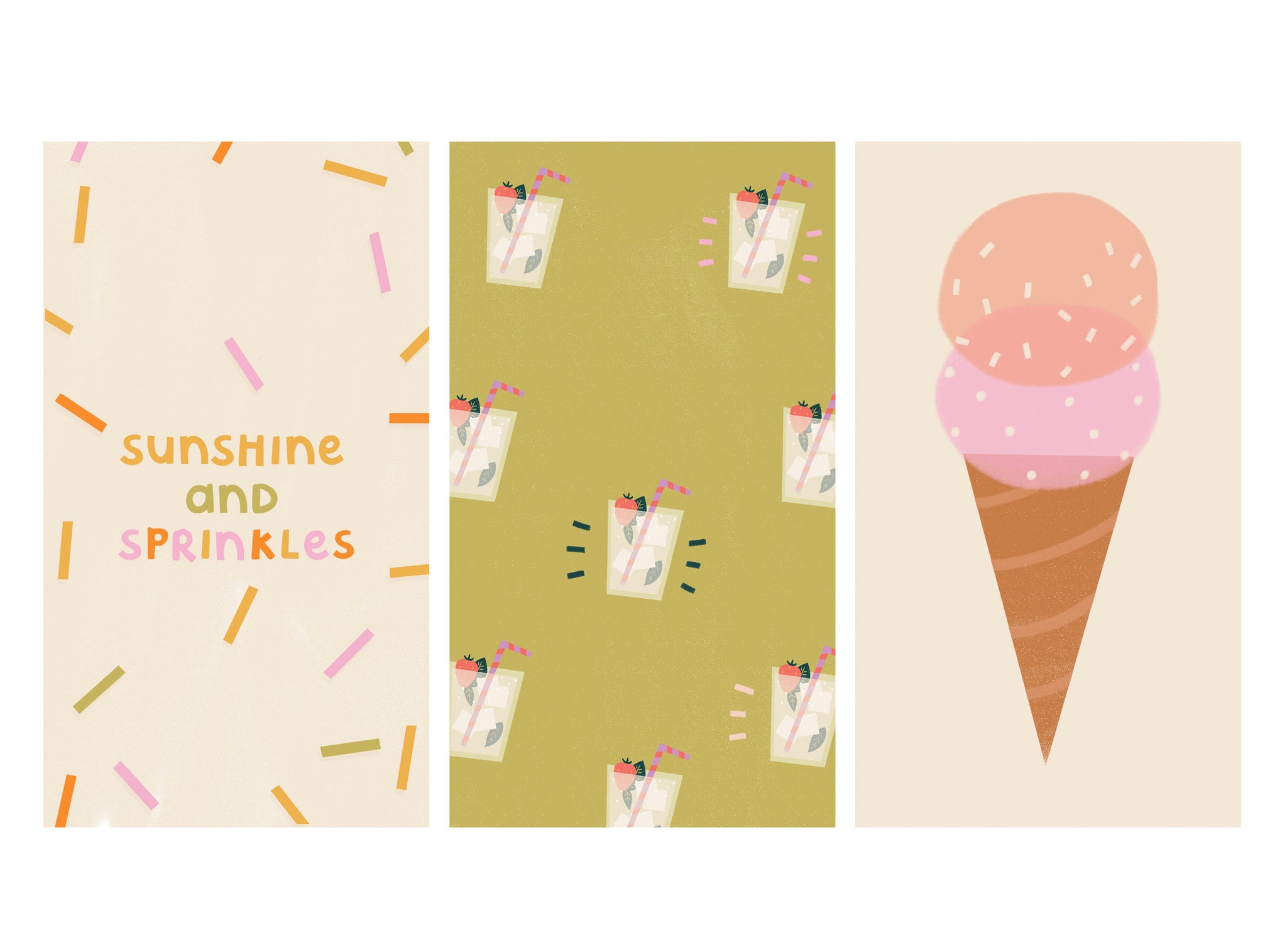 Free colourful illustrated wallpapers for phone | Raspberry Blossom