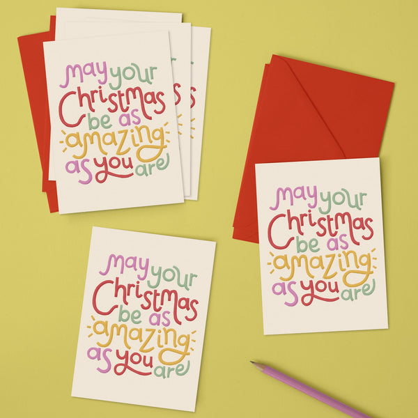 'May your Christmas be as amazing as you are' Christmas pack (x6)