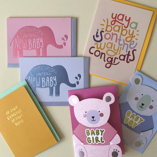 New Baby & Baby Shower Card Pack