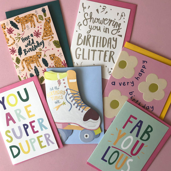 Teenage Birthday Card Pack