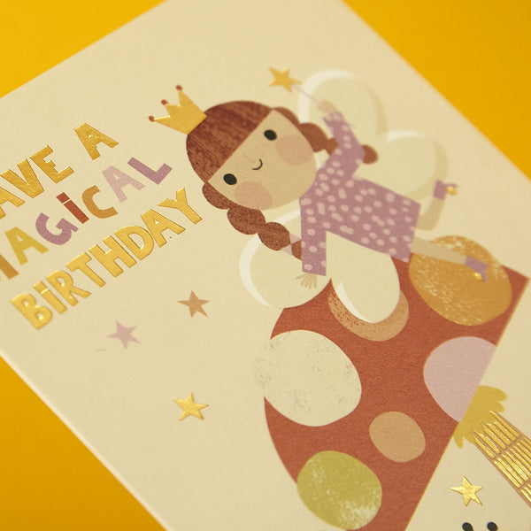 Magical fairy children's Birthday card