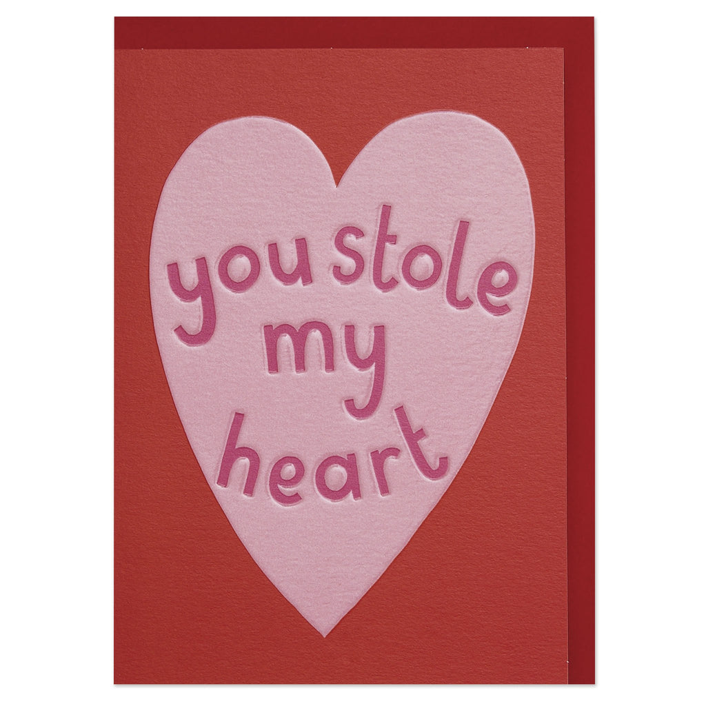 'You stole my heart' luxury Valentine's Day card