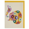 Colourful floral numbers age 40 Birthday card
