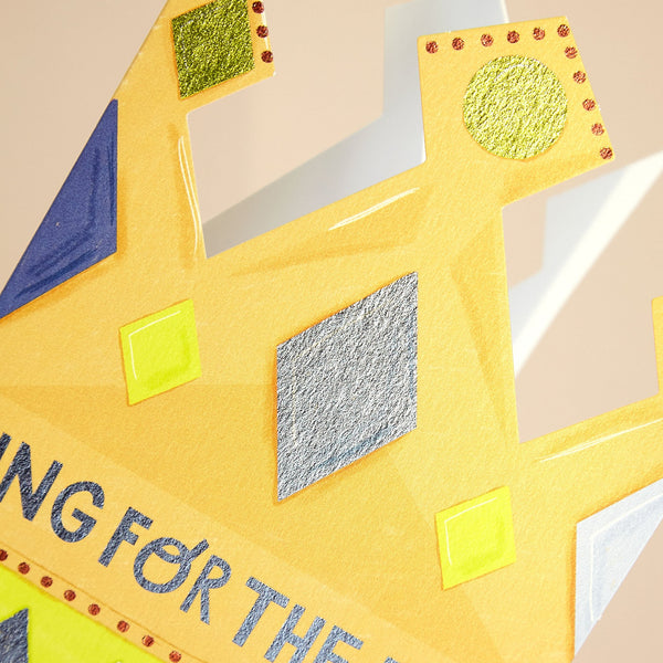 'King for the Day' Crown Card