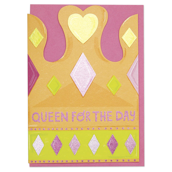 'Queen for the Day' Crown Card
