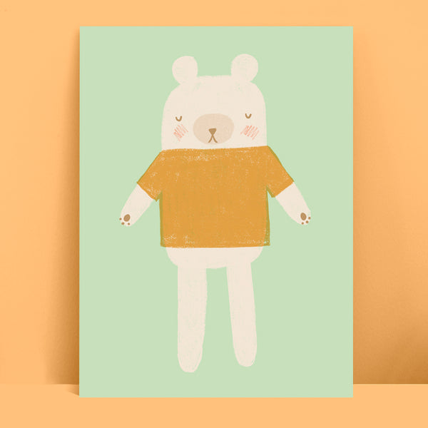 Bear Toy Print Mint