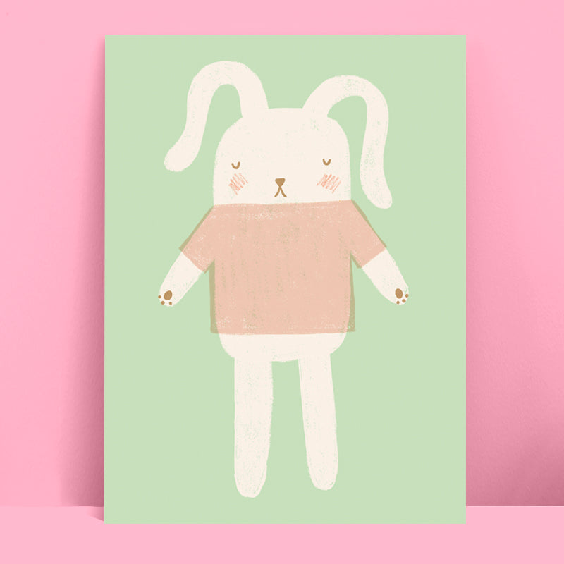 Bunny Toy Print Mint