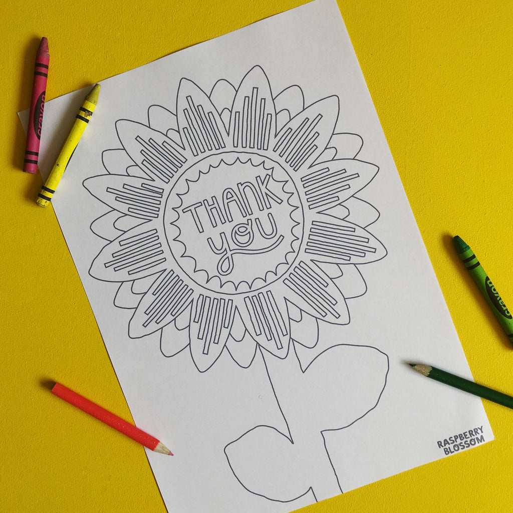 Free Sunflower Colouring-in Printables for Kids