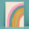 Half Rainbow Illustration Print