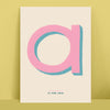 Colourful Initial and Name Personalised Print