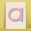 Colourful Initial Personalised Print