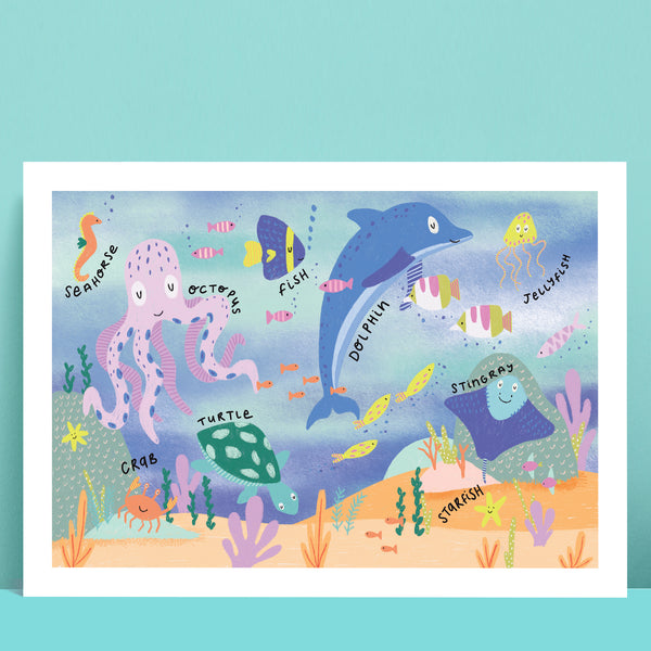 Sealife Animals Print