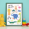 Zoo Animals Print