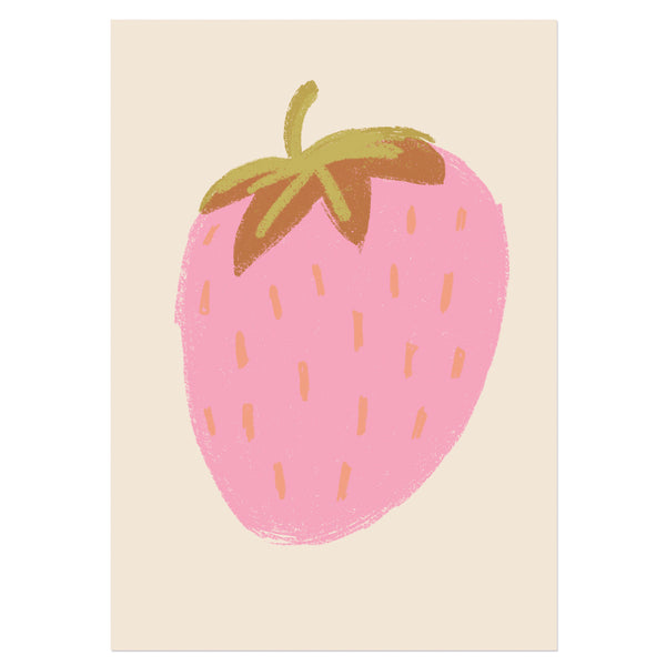 Strawberry Illustration Print