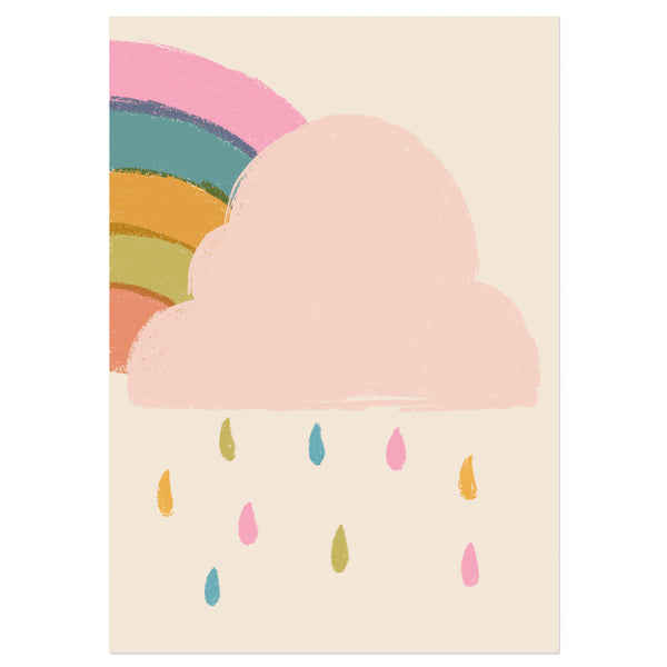Colourful Rain Cloud Print