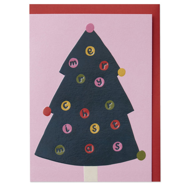 'Merry Christmas' Tree Card