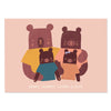 Personalised Family Print with Bear Illustrations