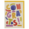 'Congrats' big, bold congratulations card