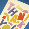 Thank You!'big and bold thank you card