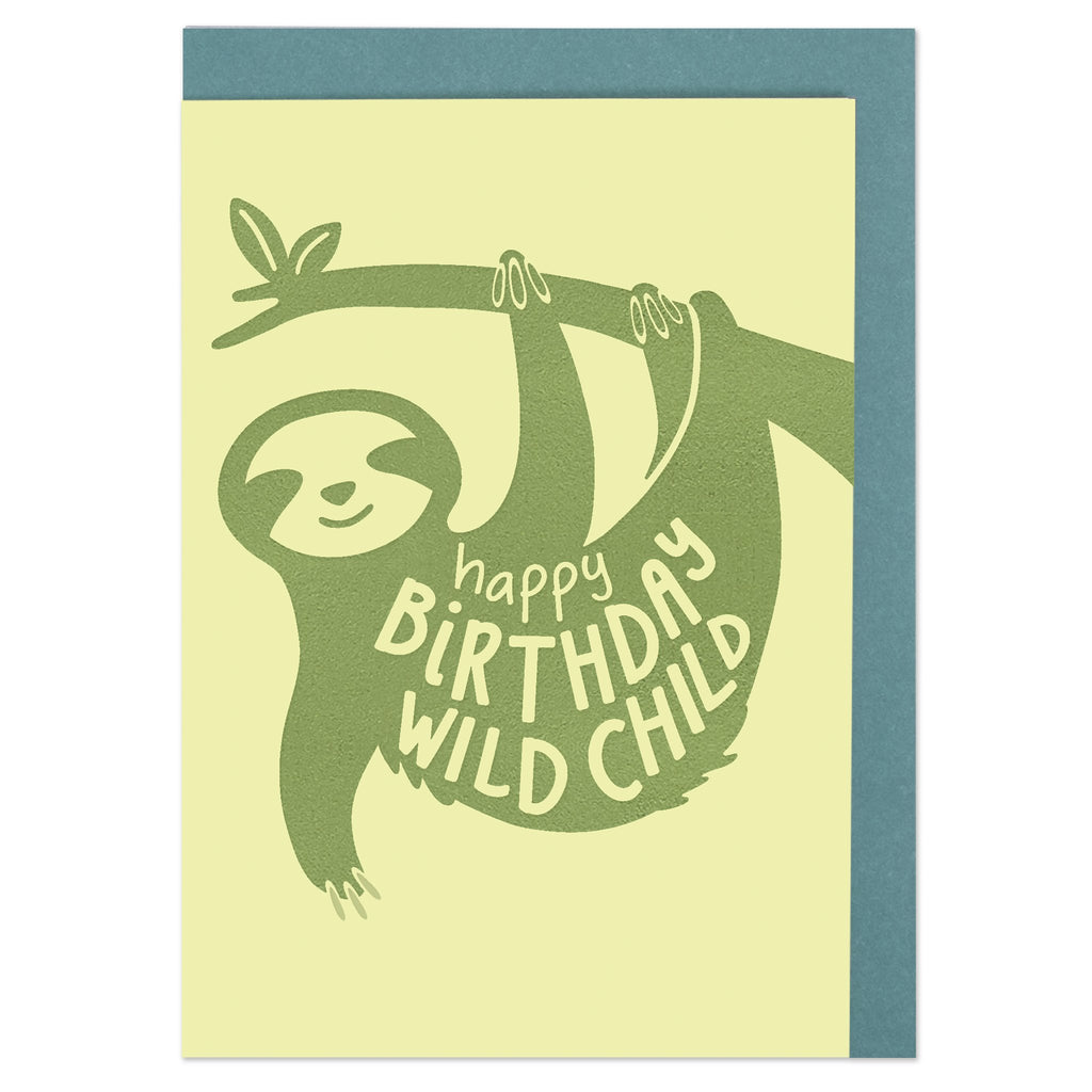 Happy Birthday wild child Card