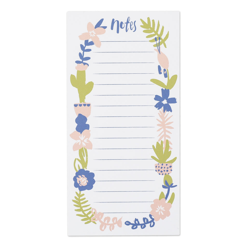 Blossoming Blooms list pad - white notes