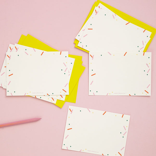 Confetti Happy Notes
