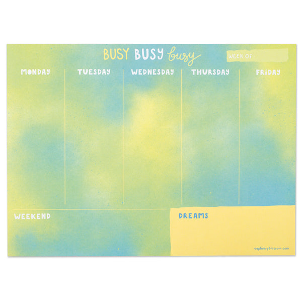 Busy, busy, busy Weekly Planner