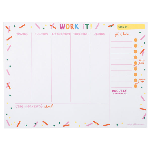 Work It! Weekly Planner