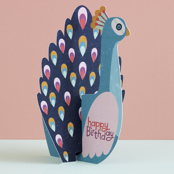 Happy Birthday Card - Peacock