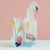 Happy Birthday Card - Swan