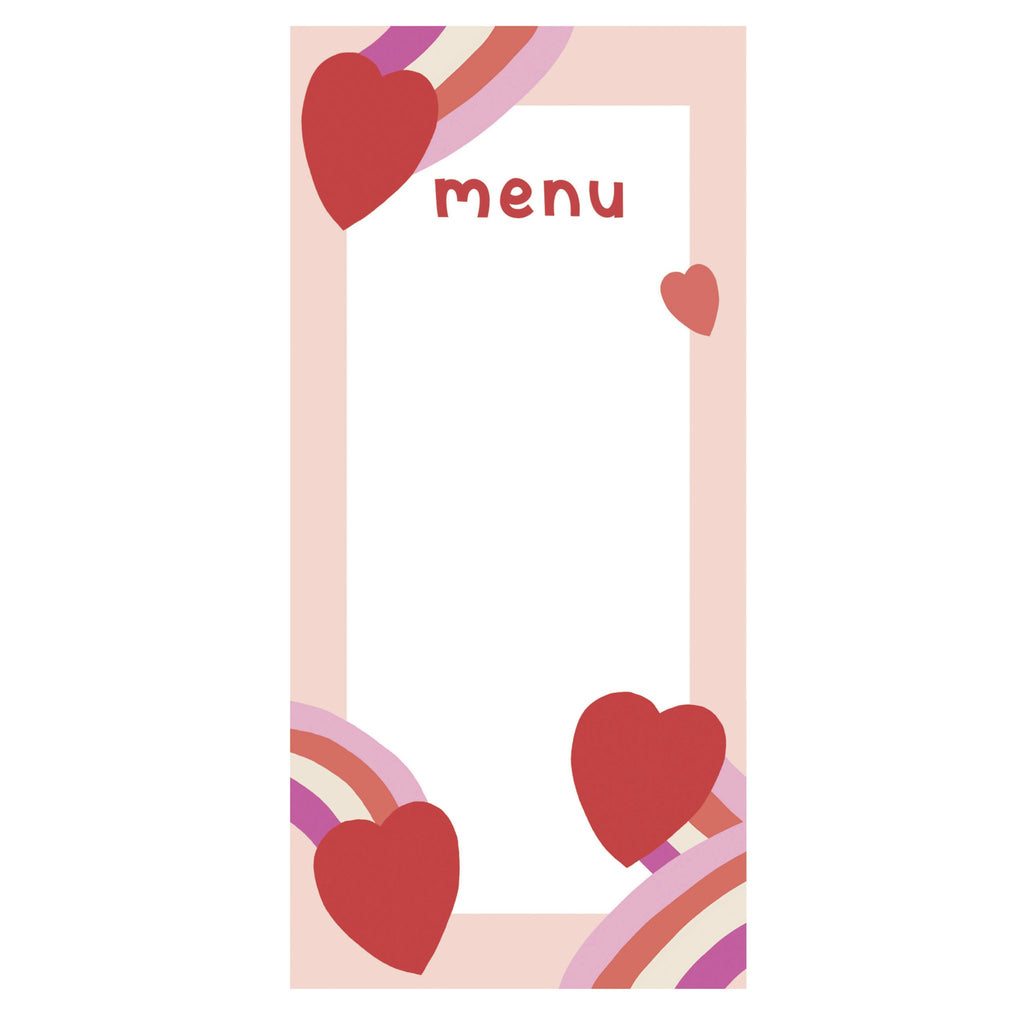 Valentine's Day Menu Templates