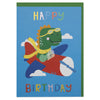 Fun dinosaur pilot children's Birthday card