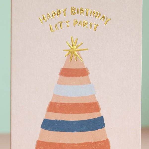 Happy Birthday. Let's Party Card