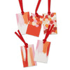 5 x festive abstract painterly gift tags