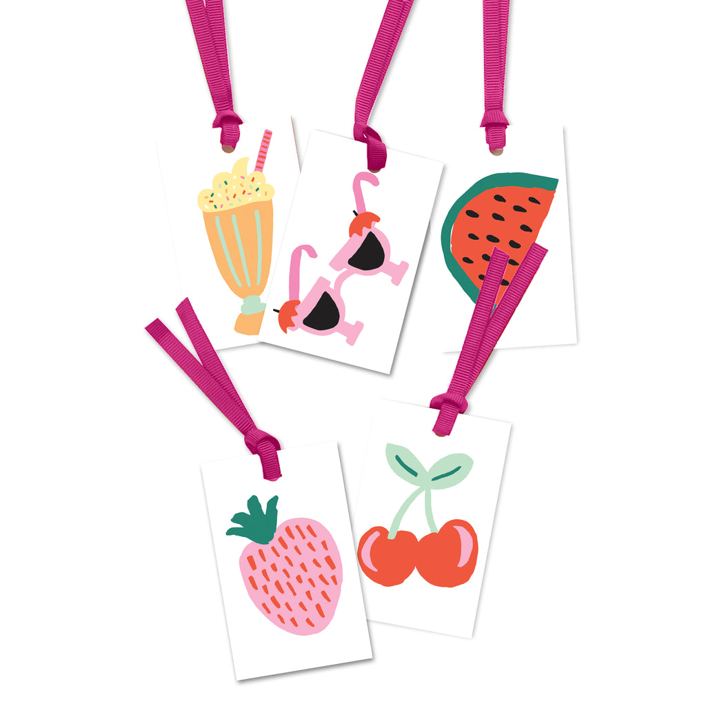 5 x illustration gift tags