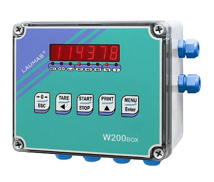 W200BOX : Weight Indicator into IP67-64 case (for weighing and batching)