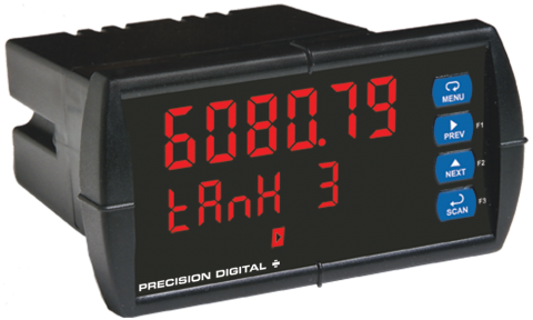 ProVu Decimal Display Modbus Scanner with Dual Analog Inputs
