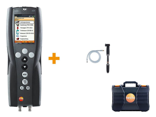 Testo 324 basic set - Pressure and leakage measuring instrument