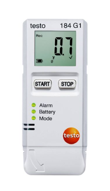 Testo 184 G1 - Vibration, humidity and temperature data logger for transport monitoring