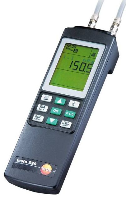Testo 526-1 - High-precision differential pressure measuring instrument