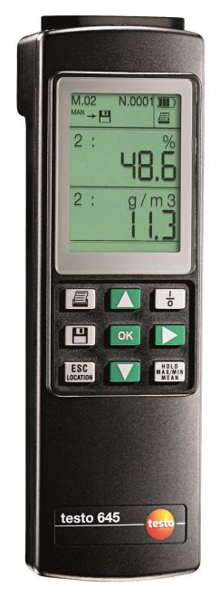Testo 645 - Humidity measuring instrument for industry